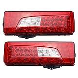 Accesorios Byolpmkk-Jiajia Cola 2x 24V LED combinación de luces traseras del freno del coche luz de freno trasera del carro pesado luz trasera con zumbador for Scania G400 G450