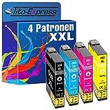 Tito-Express PlatinumSerie 4 Patronen XXL als Ersatz für Epson 502XL 502 XL | Epson Workforce WF 2860DWF WF 2865DWF | Epson Expression Home XP 5100 XP 5105 XP 5136