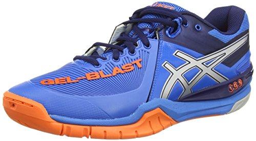 ASICS Herren Gel-Blast 6 Handballschuhe, Blau (Electric Blue/Silver/hot Orang 3993), 45 EU
