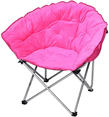 ZnMig Lazy Sofa Folding Camping Tub Chair Heavy Duty Padded Fishing Moon Seat Portable Outdoor Patio Seating and Sofas (Color