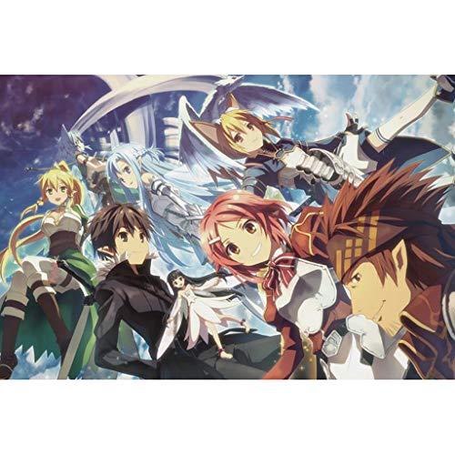 QINGQING Rompecabezas Sword Art Online Puzzle Adultos Juego Educativo Intelectual 300/500/1000 Piezas(Size:500)