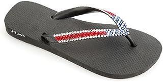 ed15d494e Lori Jack Swarovski Crystal Flip Flops (37 38