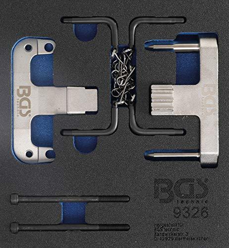 BGS 9326 | Werkstattwageneinlage 1/6: Motor-Einstellwerkzeug-Satz | für Mercedes-Benz / Chrysler