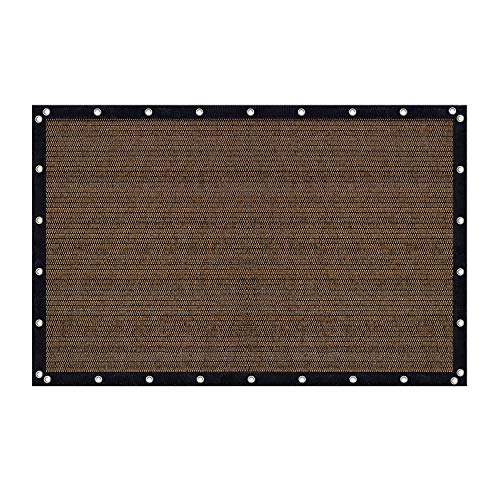 Vicllax Shade Fabric Sun Shade Cloth Privacy Screen with Grommets for Patio Garden Pergola Cover Canopy 8x12 FT, Mocha