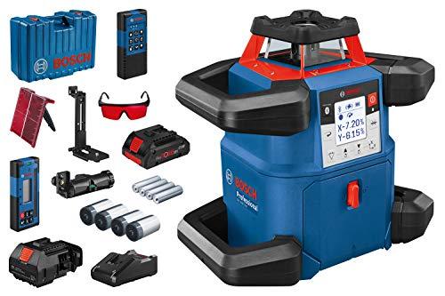 Bosch Professional GRL 600 CHV roterende laser (met app-functie, max. Werkbereik: 600 m, 1 x accu, 18 V, in ambachtskoffer.