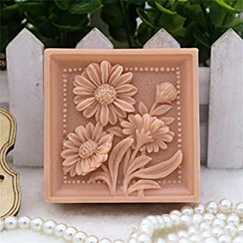 Silicone Molds Daisy Wild Flowers soap molds Flowers Plant Theme Craft Art Silicone Soap Mold DIY Handmade soap for Best Gift idea - Soap Making Supplies by YSCEN
