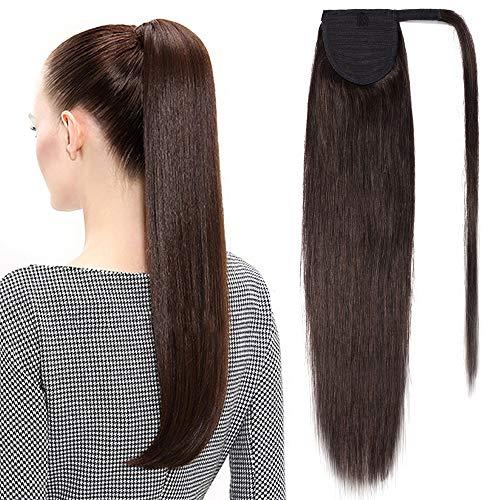 TESS Pferdeschwanz Extensions Echthaar Ponytail Haarteil Clip in Extensions Echthaar Zopf Remy Haarverlängerung günstig 20