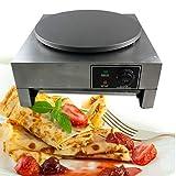 DYRABREST 110V 3000W 15.7' Commercial Electric Crepe Maker Pancake Maker Machine Hot Plate Cooktop Nonstick Single Heavy Duty