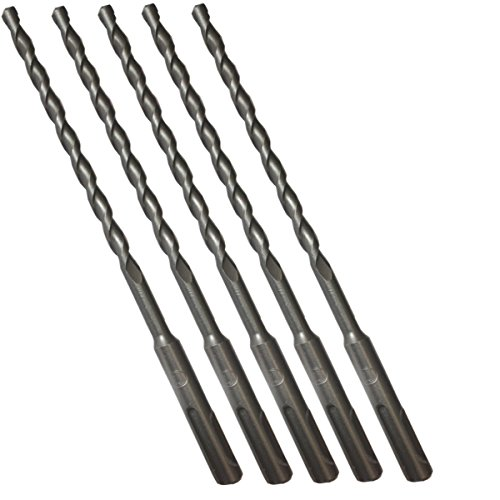 (PACK OF 5) 6MM X 210MM sds + Masonry drill bit for stone concrete brick drilling
