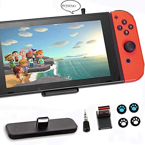 GuliKit Bluetoothアダプター 対応Nintendo Switch / Switch Lite PS5 PS4 Macbook PC用 マイク付き フォートナイトのボイスチャット超薄 低遅延 無線 BTH オーディオ レシーバー トランスミッター(ブラック)