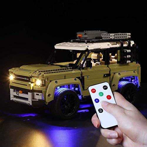 TETAKE Juego de iluminación LED para Lego Land Rover Defender – 42110 (no incluye modelo Lego).