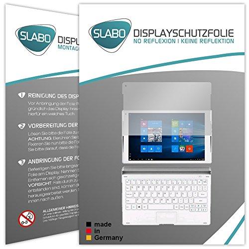 Slabo 2 x Bildschirmschutzfolie ALCATEL Plus 10 Bildschirmschutz Schutzfolie Folie No Reflexion|Keine Reflektion MATT - Entspiegelnd Made IN Germany