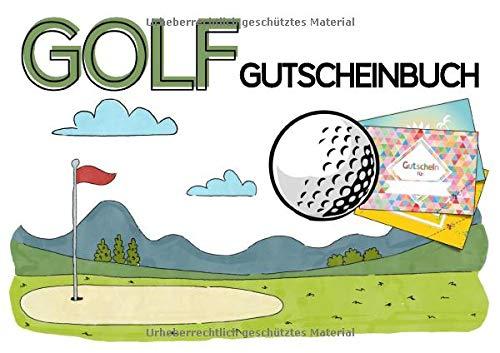 Golf Gutscheinbuch: Blanko Gutscheinheft mit 20 Gutscheinen