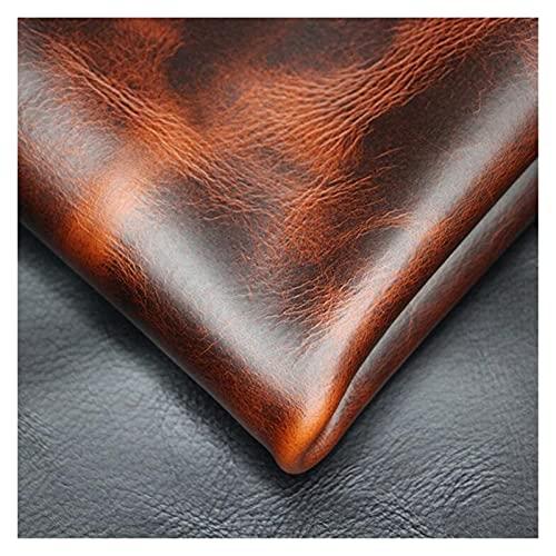 Demoyu 2.0mm Ölwachs Echtes Leder Erste Schicht Rindsleder Crazy Horse Leder für Taschen Schuhe Gürtel Brieftasche Sofa etc. Antike Stil Rindsleder (Farbe : Oil Wax Leather, Größe : 30x150cm)