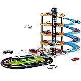 YYQIANG Estacionamiento Garaje Garaje Playset Juego Set Viaje mágico conjunto de juguete de carreras con multi-pista del coche de carril de bricolaje montaje con el circuito de carreras de coches en 3
