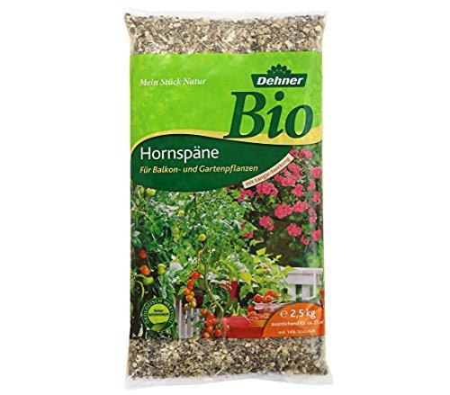 Dehner Bio Hornspäne mit Langzeitwirkung, für Balkon- und Gartenpflanzen, 2.5 kg, für ca. 25 qm