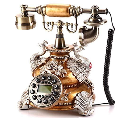Teléfono Fijo Teléfono Fijo residencial, teléfono residencial Fijo con Cable Antiguo Retro y decoración Oficina, Disponible en una Variedad Colores y Estilos (Color: Marrón, Estilo: B)