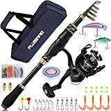 PLUSINNO Fishing Rod and Reel Combos Carbon Fiber Telescopic Fishing Pole with Spinning Reels Sea Saltwater Freshwater Kit Fishing Rod Kit