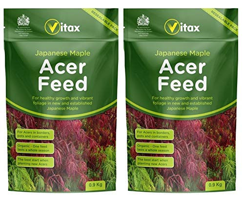 2 Vitax Organic Japanese Maple Acer Fertiliser Plant Feed Resealable Pouch 900g