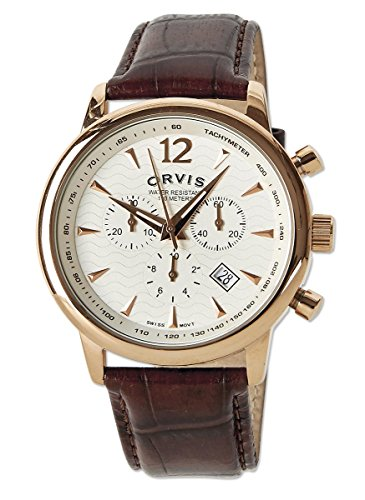 Orvis Rose Gold Chronograph, Gold