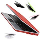 Goldengulf 7 Inch Portable Mini Computer Laptop PC Netbook for Kids Android 5.1 Quad Core 8GB WiFi Built in Camera Netflix YouTube HDMI Port Flash Player (Red)