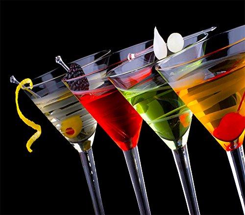 Spritzschutz Küchenrückwand Edelstahl FS-028 Cocktail Glas Weiß Rot Grün Gelb Kirsche Beere Küche Kochen Herd
