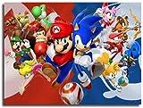 EA-SDN - Póster de pared con diseño de Super Mario Bros de Super Mario Bros Art One Piece