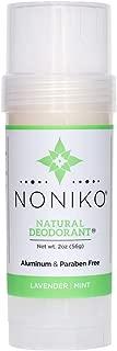 Noniko Natural Deodorant   Natural Deodorant, Free of Aluminum, Parabens, Animal Cruelty   Men & Woman Guarantee to Work All Day Long! - Lavender Mint - Single