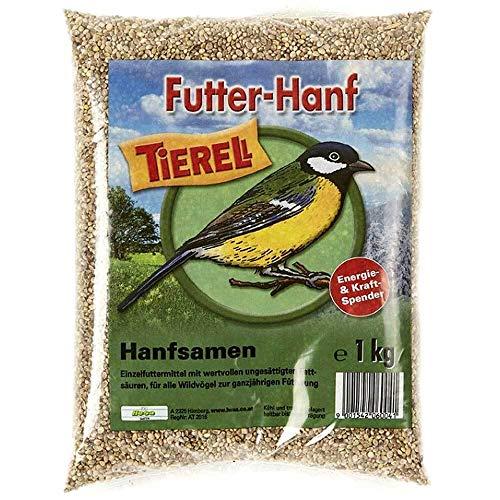 Tierell Futter-Hanf Hanfsamen Wildvogelfutter 1 kg