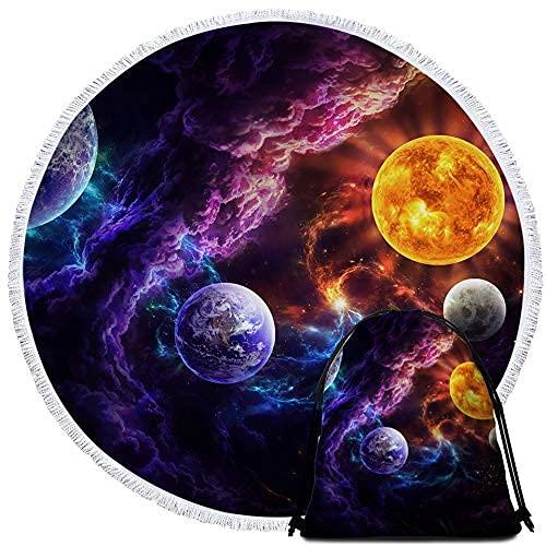 Plan of Salvation by JoJoesArt - Mochila con cordón para niños, diseño de planeta espacial, color morado