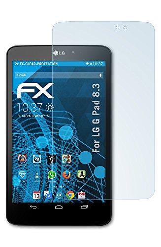 atFolix Schutzfolie kompatibel mit LG G Pad 8.3 Folie, ultraklare FX Bildschirmschutzfolie (2X)