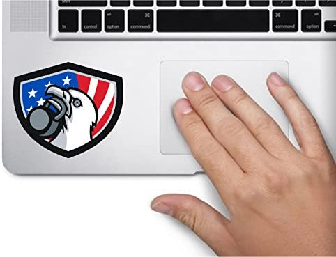 Oval USA Eagle Kettlebell 3 5x2 5 inches America United States Murica Color Sticker State Decal product image