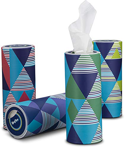 Reeflex Car Tissues (8 Canisters/400 Tissues) - Disposable Facial Tissues Boxed in Canisters with Perfect Cup Holder Fit | Quality Car Travel Tissues that are Soft, Durable, 2-Ply, Thick & Convenient