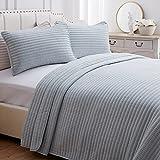 SEMECH King Quilt Set Bedspread Coverlet, Lightweight Quilted Bedspread King Size, Microfiber Coverlet Quilt Cover Set, 3 Piece Includes 1 Quilt and 2 Shams