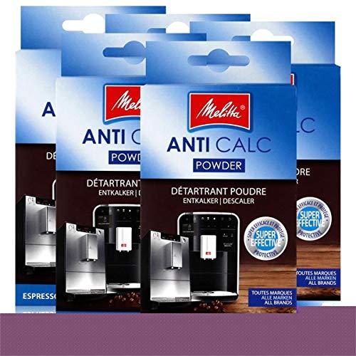 Melitta Anticalc Espresso Machines Entkalker Pulver 2x40g (5er Pack)