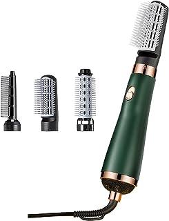 Multifunktionale schnelle Haartrocknerbürste, Heißluftbürste Einstufiger Haartrockner und flauschige Bürste Föhn Styler zum Glätten, Locken, Salon-Negativ-Ionen-Föhnbürste