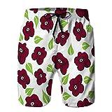 jiilwkie 66 Shorts Casuales para Hombre Bañador de Playa Shorts de Playa Beach Ocean Tropical Sunny pa M