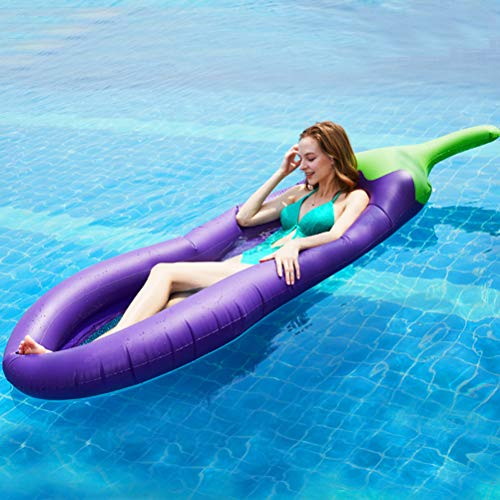Fangteke Aufblasbare Pool Matratze Auberginen Form Schwimmt Floß Luftmatratzen Sommer Schwimmen Wassersport Strandspielzeug
