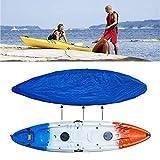Kayak Canoa Cubierta Polvo, A Prueba Agua Bloqueador Solar UV Pantalla Protector Almacenamiento Cubierta Encajen Barco Pesca, Paddle Board,Océano Barco,SUP Tabla De Surf,Fit 4.1*4.5m/13.4*14.7ft Kayak