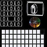 60 Piezas de Mini Ganchos Transparentes Decorativos, Clips de Luces de Fiesta, Clips de Decoración para Guirnalda de Luces, Clip Colgante de Decoración de Multiusos para Hogar, Escuela y Exterior