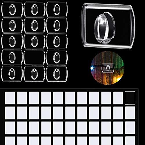 60 Stück Mini Klare Haken zum Verzieren, Urlaubslicht Haken, Clip für Lichterketten, Multifunktion Dekoration zum Aufhängen von Clips für Zuhause, Schule Draussen (Größe A)