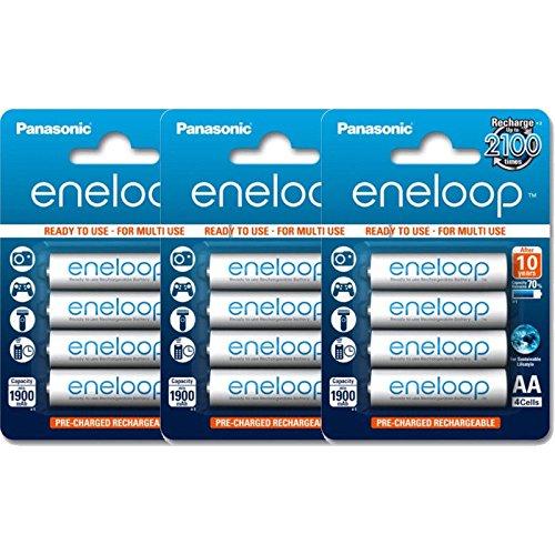 20 Panasonic Eneloop AA BK-3MCCE min 1900 maH Rechargeable Batteries