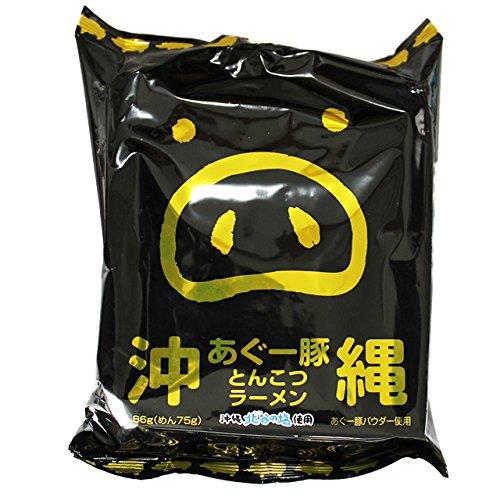沖縄あぐー豚 とんこつラーメン 82g(めん75g)×5食入×6袋×2ケース 沖縄北谷の塩使用