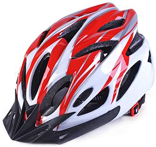 Casco de ciclismo ligero, con visera desmontable, ciclo de bicicleta de carretera para hombres para hombre, para uso en bicicleta para adultos de seguridad (se ajusta a los tamaños de cabeza 22.0 '-24