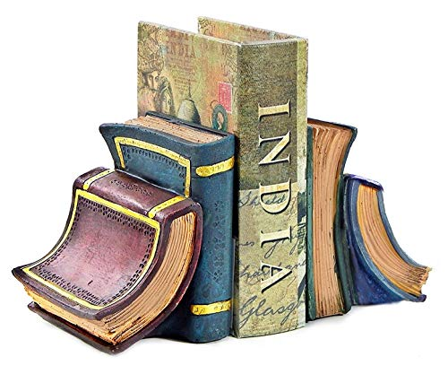 Bellaa 23354 Book Bookends Library Decor 6 inch