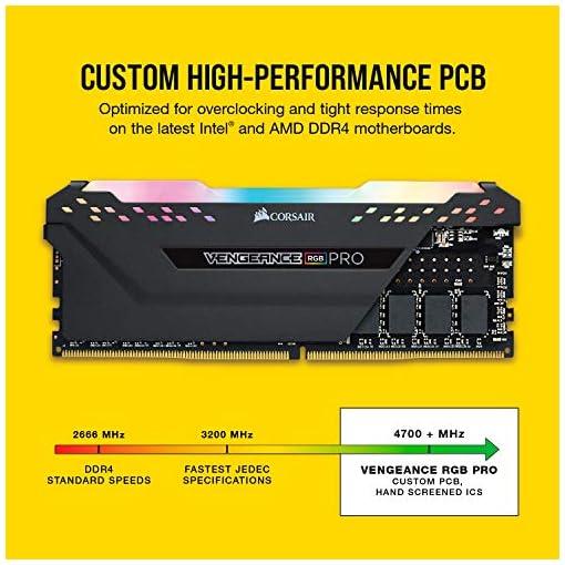 Corsair VENGEANCE RGB PRO 32GB, 2x16GB, DDR4 3200MHz C16 Módulos de Memoria de Adecuado Rendimiento, Negro 4