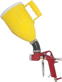 Joywayus Air Hopper Spray Gun with 4.0mm/6.0mm/8.0mm Nozzle Paint Texture Drywall Painting Sprayer, Yellow, 0.79 Gallon (3 L) Elbow
