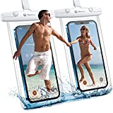 Universal Waterproof Case, Humixx IPX8 Waterproof Phone Pouch for Swimming Lanyard Pouch Protector Perfect Underwater Photography Compatible for iPhone Samsung Up to 7.0 inch Cellphone Dry Bag-2 Pack