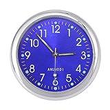 VOSAREA Tablero del Coche Reloj Reloj Coche noctiluciente electrónico Puntero Luminoso (Azul)
