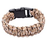 DonDon Pulsera de Nylon Trenzada Outdoor-Supervivencia - Color Arena